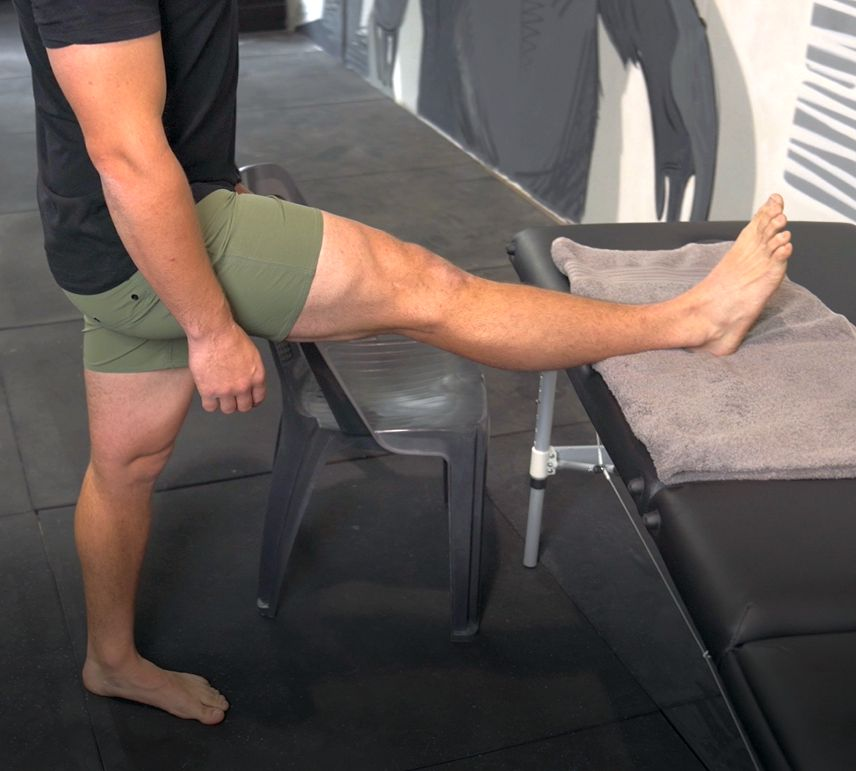 The Correct set up for a Hamstring Stretch